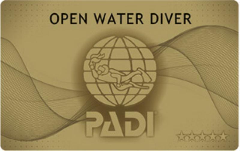 PADIオープンウォーターダイバーコースライセンスCカード